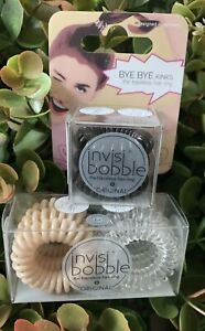 invisibobble traceless hair ring Pack Of 6 Clear And Nude & 3 Pack Black