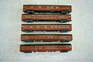 Kato Pennsylvania RR (5) Passenger Cars N Scale Set