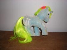 Vintage My Little Pony - Ribbon So Soft - Unicorn Blue Neon Green flocked