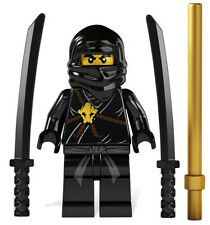 NEW LEGO NINJAGO COLE MINIFIG figure minifigure black ninja 2112 2263 2516