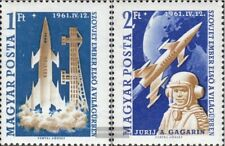 Ungarn 1753A-1754A (kompl.Ausg.) postfrisch 1961 Bemanntes Weltraumschiff