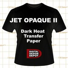 "NEENAH TRANSFER PAPER JET OPAQUE II FOR DARK FABRICS 100Pk 8.5"" x 11"""
