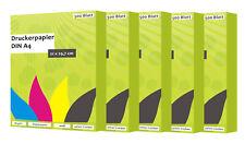 2500 Blatt Papel Copia Papel impresión DIN A4 80G/M ² blanco para tinta y láser