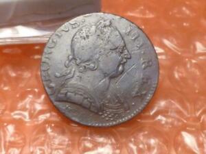 1775 George III Revolutionary War Era Colonial Halfpenny Detail Double, 'NI' #1D
