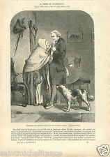 Mary Ball Mother George Washington President United State GRAVURE OLD PRINT 1857