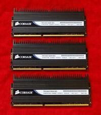 Corsair Dominator 6GB (3x2GB) DDR3-1600 RAM 8-8-8-24 TR3X6G1600C8 V3.1
