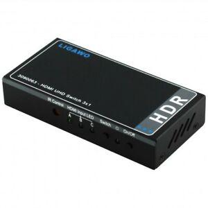 GW3582 Ligawo 3090063 HDR HDMI Switch 3x1 - automatisch