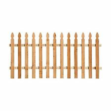 Outdoor Barrier Western Cedar French Gothic Spaced Picket Wood Fence Panel Kit