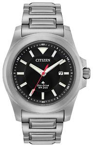 Citizen PROMASTER Tough Eco DR Stainless Steel Black Dial Men's Watch BN0211-50E