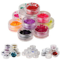 12 PCS MIX COLOR GLITTER DUST POWDER SET for Nail Art ACRYLIC TIPS DECORATION #