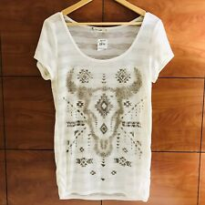 NWT Spoiled Southwestern T-shirt Graphic Top Tunic Junior size L