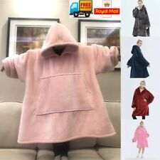 Hoodie Blanket Soft Oversized Plush Blanket Hoodie Sweatshirt Fleece Blanket UK