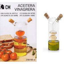 Acetiera Oliera Vetro Aceto 2 In 1 Bottiglia Vinagrera Tappo Sughero A Bolle 484