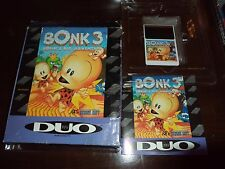 BONK 3: BONK'S BIG ADVENTURE FOR TURBOGRAFX 16 COMPLETE WITH BOX & INSTRUCTIONS
