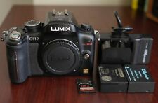 Black Panasonic LUMIX DMC-GH2 16MP Digital Camera Body w/ 128GB U3 SDHC- Clean!