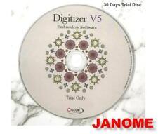 Janome Digitizer broderie logiciel version d'essai de 30 jours disque dernière UK Version 5.0 v5