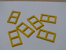 Lego 6 fenetres jaunes set 6363 3739 3226 599 / 6 yellow windows