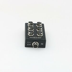 Power Distribution Splitter Box Hirose 4 Pin Female 1 to 6 for Sound Devices 664