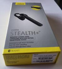 Black Jabra Stealth+ Plus Wireless Bluetooth Headset in Retail Pkg - REFURBISHED