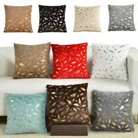 Decorative Gold Leaves Throw Pillow Case Sofa Cushion Covers 18x18 Home Decor