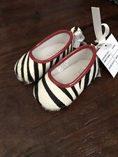 Guess Baby Girl Infant Zebra Sheen Crib Shoes Ballet Size 1 New