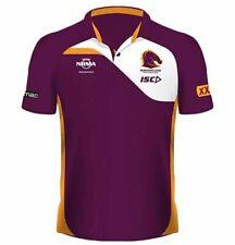 Brisbane Broncos NRL Mens Players Performance Polo Shirt 2019 ISC BNWTS