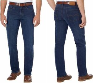 """Urban Star Mens Relaxed Fit Jeans, Straight Leg, Stretch, Premium Jeans, 32""""-40"""""""