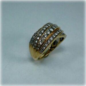 9ct Gold One Carat Diamond Dress Ring