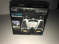 THE BLACK SERIES Mini UV Coated Binoculars BLACK/SILVER NEW Boxed Magnification