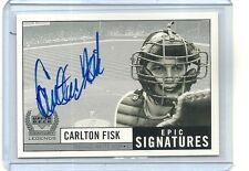 1999 CARLTON FISK AUTO Autographed signed card CHICAGO WHITE SOX