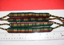 120 Assorted friendship bracelets handmade Rastafarian color