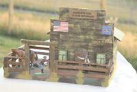 Old West 3148, US Armee Nachschub Lager, zu 7cm Sammelfiguren, Fertigmodell GMK