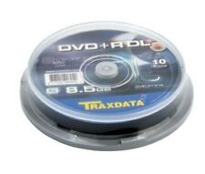 50 Traxdata Ritek S04 Dual de doble capa DVD + R DL 8x Discos en Blanco 8.5 GB 240 Min