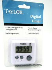 Taylor Multi Purpose Large Display Digital Timer With Magnetic Back Clip 5827-21