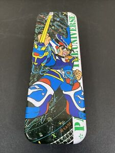 Vtg Japanese Patrol In The Universe Matal Double Sided Pencil Case  Made/Japan