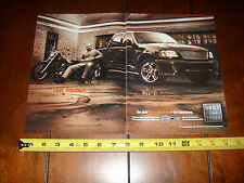 2001 FORD F150 HARLEY DAVIDSON SUPERCREW - Original 2 Page Ad