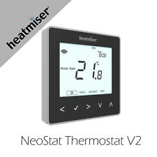 Heatmiser NeoStat Programmable Thermostat - Black Works with Apple Home with Hub