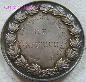 MED5966 -  MEDAILLE SOCIETE FRANÇAISE D'ASSISTANCE ILE MAURICE 1882 - RRR