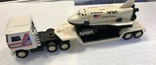 Vintage 1980 Buddy L NASA Space Shuttle Discovery 18 Wheeler Mack Tractor  VTG