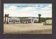 POSTCARD:  WAGNERS' DRIVE-INN GRILL RESTAURANT - DAYTONA BEACH, FLORIDA - Unused