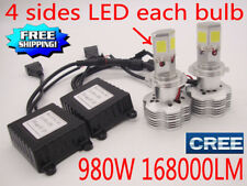 980W 168000LM CREE LED Headlight Kit H4 H7 H11 9005 6000K White Light Bulbs Lamp