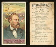 """1887 N127 Duke Sea Captains """"Redford W. Sargent"""" FAIR/GOOD **AA7754**"""