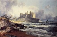 Conway Conwy Castle By Turner Seascape Giclee Fine Art or Canvas Picture Print
