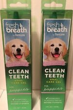 Tropiclean Fresh Breath Clean Teeth Oral Gel for Dogs And Puppies,2x2 Oz Packs