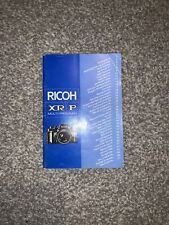 Original Ricoh XR-P Full English Instruction Manual VGC