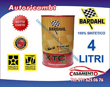 4 LITRI LT OLIO MOTORE AUTO BARDAHL XTC C60 10W40 POLAR PLUS FULLERENE TAGLIANDO