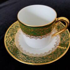 Limoges~France Veritable Porcelaine d'art demitasse cup & saucer~collectable