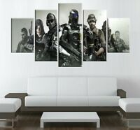 Large Framed Call of Duty Characters Canvas Print Wall Art Home Decor