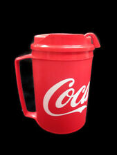Coca-Cola Travel Mug Can Holder With Handle Insulated Red with White Script Logo