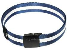 Blue White Stripe Nylon Belt Tactical Buckle Army Police Security Military 38mm